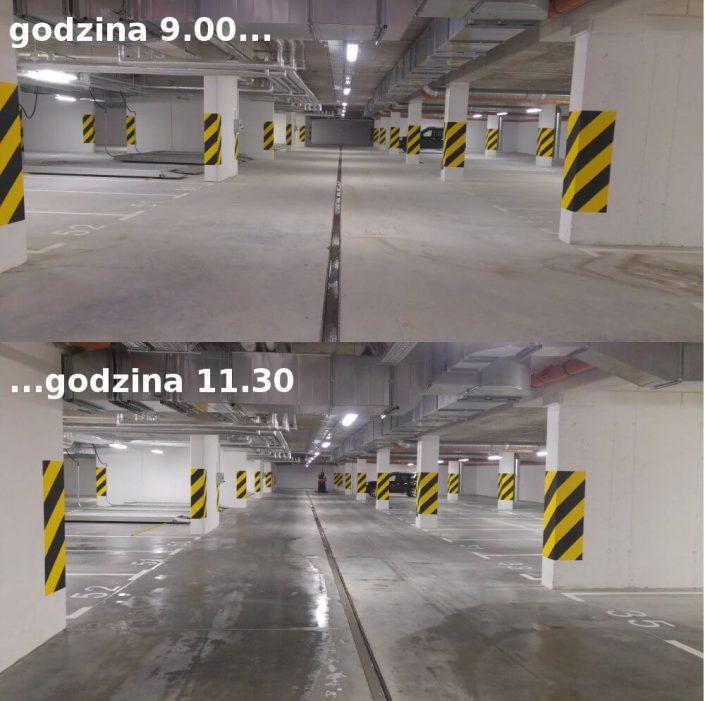 Sprzątanie parkingów podziemnych